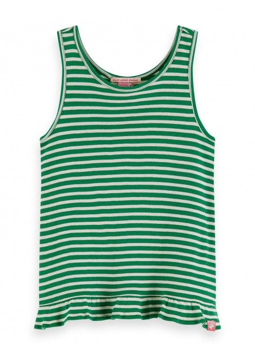 Scotch R'belle Rib Yarn dyed stripe tank top