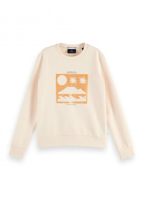 Maison Scotch Scotch sweat with artworks