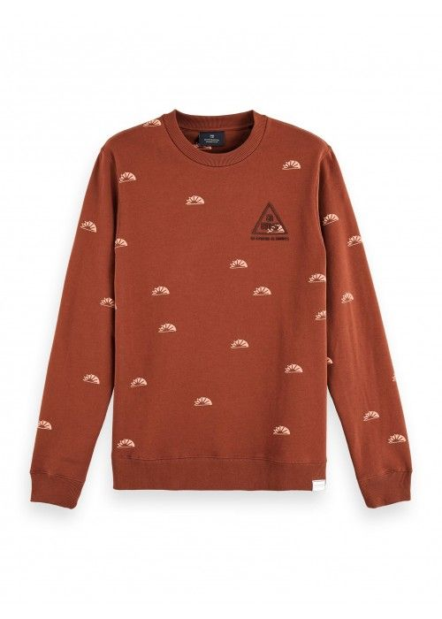 Scotch & Soda Crew neck sweat with aop