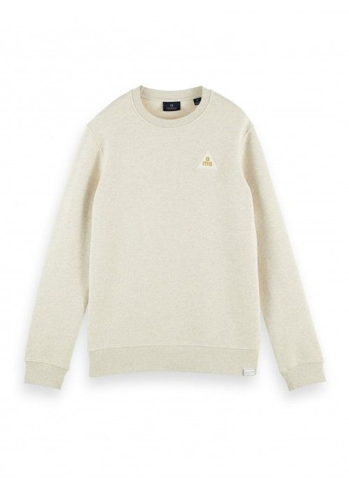Scotch & Soda Crewneck sweat with subtle che