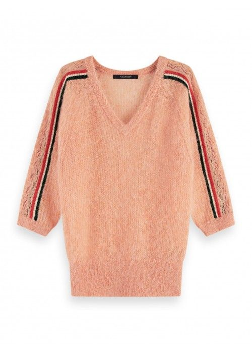 Maison Scotch Feminine pullover with stripes