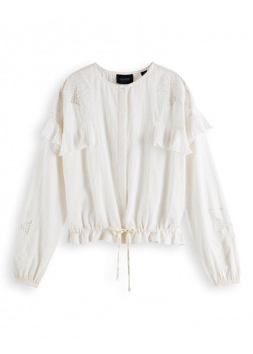 Maison Scotch Loose shirt Lace&Sport details