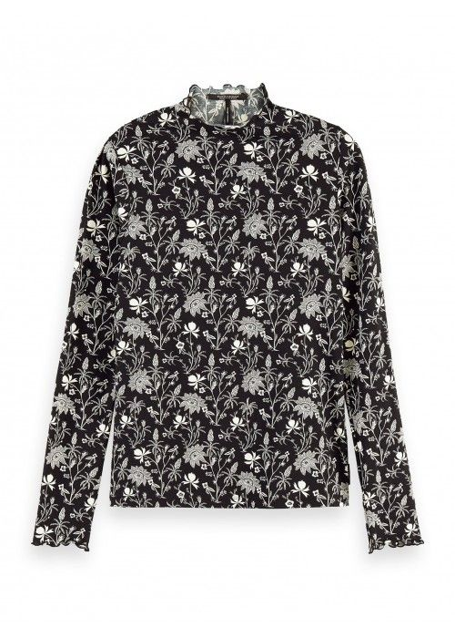 Maison Scotch Organic cotton printed l/s