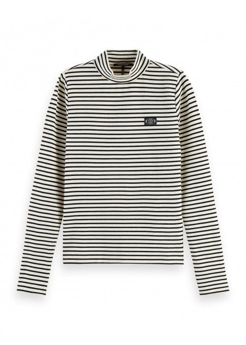 Maison Scotch Mini breton stripe l/s