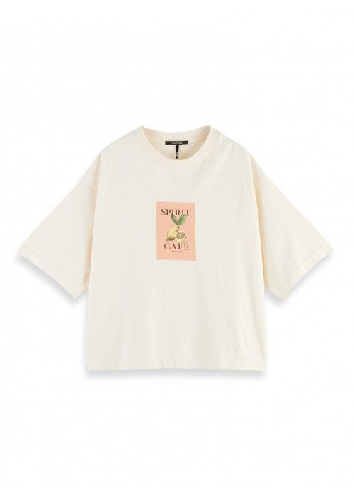 Maison Scotch Tee with Photoprint