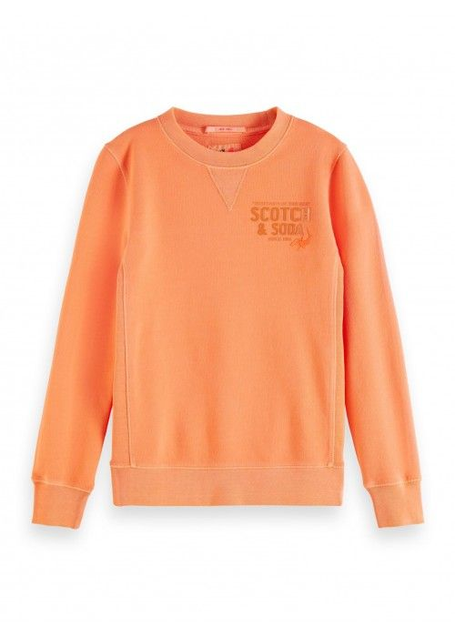 Scotch Shrunk Crewneck sweat with artwork