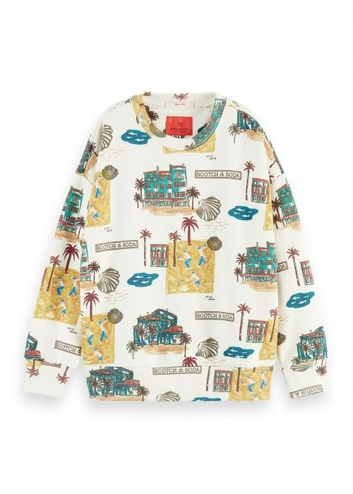 Scotch Shrunk All-over printed crew neck