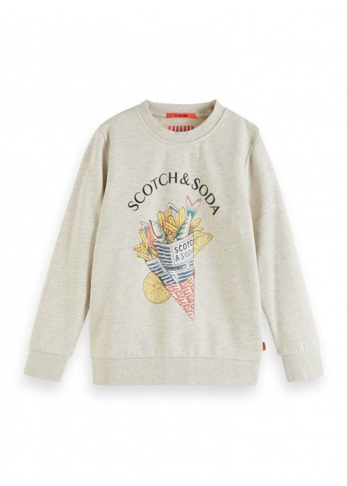 Scotch Shrunk Crew neck sweat with artwork