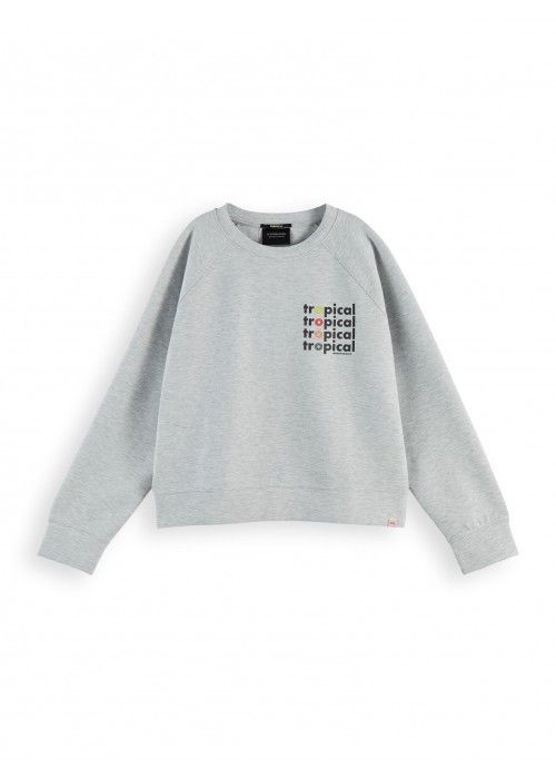 Maison Scotch Crew neck sweat with
