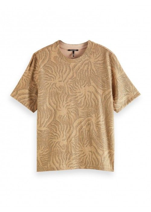 Maison Scotch Relaxed fot lurex printed tee