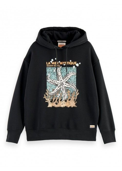 Maison Scotch Loose fit hoody with graphic